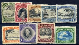 Cook Is. 1944 SG137-45 fine mint set of 9 - cat £95