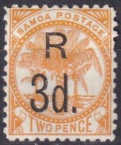 Samoa #25   F-VF Unused  CV $10.00  (Z6934)