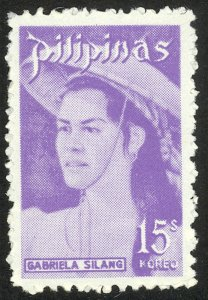 PHILIPPINES 1973-78 15s GABRIELA SILANG Portrait Issue Sc 1196 MNH