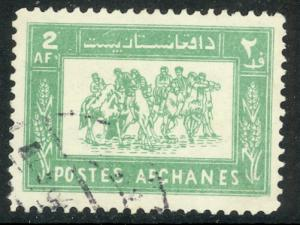 AFGHANISTAN 1961-72 2af Light Green BUZKASHI Scott No. 552 VFU