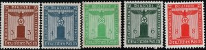 Stamp Selection Germany Official WWII 3rd Reich AH War Occupation 5 MNG