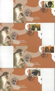 UN Geneva  Endangered Species 2007 465-8 FDC Geneva Cachet