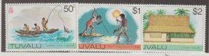 Tuvalu Scott #34-35-36 Stamps - Mint NH Set