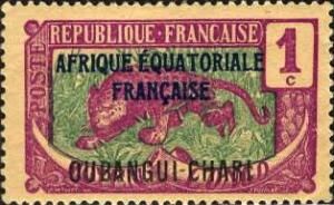 Ubangi (Gabon); 1924: Sc. # 41: *+/MLH Single Stamp