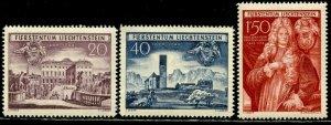 LIECHTENSTEIN Sc#240-242 1949 250th Anniversary Complete Set OG Mint NH