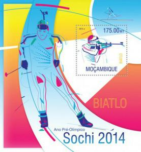 Mozambique - 2014 Sochi Olympics on Stamps -  Stamp S/S - 13A-1235
