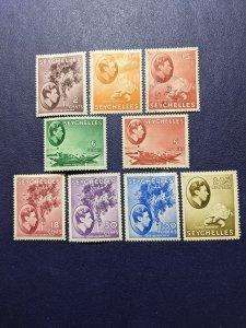 Seychelles 125,127,129b,133-134,141,146-148 VFMH, CV $61