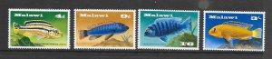 FISH - MALAWI #71-74  MNH