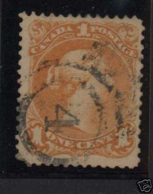 Canada #23 VF Used With 2 R 4 Halifax Cancel
