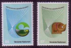 UN Vienna Sc# 28 / 29 Protection of Nature MNH