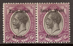 South West Africa - Scott #6 - MH - Toning, diag. crease right stamp - SCV $9.25