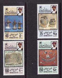 D3-Oman-Scott#180-3-Unused NH set-National Day-1977-Coffee p