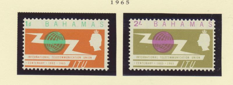 Bahamas Scott #219 To 220, Mint Never Hinged MNH, Two Stamp ITU Centenary (In...