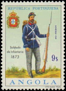 Angola #513-524, Complete Set(12), 1964, Military Related, Never Hinged