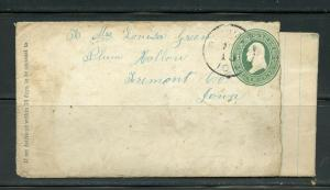 US POSTAL HISTORY OF THE STATE OF IOWA LOT OF 6 COVERS 1872-1953 AS SHOWN