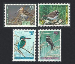 Luxembourg Birds Snipe Kingfisher Plover Martin 4v SG#1364-1367
