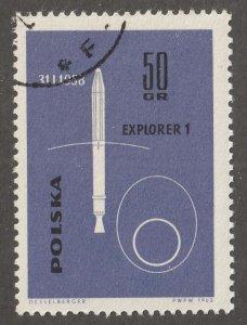 Poland stamp, Scott# 1180, used VF, single stamp, space, #1180
