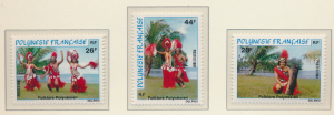French Polynesia Stamps Scott #346 To 348, Mint Never Hinged - Free U.S. Ship...
