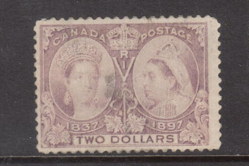 Canada #62 Mint Scarce Space Filler - Thin & Faded Part Original Gum Hinged