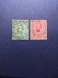 Great Britain 153-154 VF, CV $8