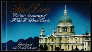 St. Lucia - Royal Wedding Souvenir Stamp Booklet (1981) Mint NH VF C