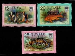TUVALU Scott o8-o10 MNH** Official 1988 overprints
