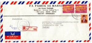 Indonesia 1981 Cover with Definitive 200r & Third 5Yr Plan 150r (see descr.)