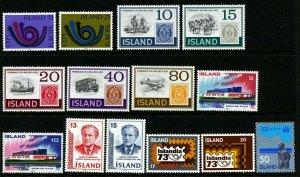 Iceland 1973 Cpl year set. Very good. MNH