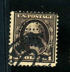 U.S. #342 USed Fine Perf initials  Cat $90
