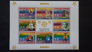 50th anniversary of EUROPA stamps - Chad - compl set of 8 in sheet ** MNH