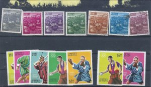 BHUTAN USED GR0UP  SCV $9.40 STARTS AT A VERY LOW PRICE!