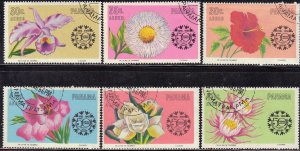 PANAMA  SC# C343-C348 **CTO **  1966  FLOWERS SEE SCAN