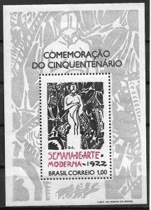 1972 Brazil 1222 Poster of Modern Art Week 1922 MNH S/S