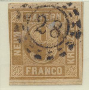 Bavaria (German State) Stamp Scott #12, Used - Free U.S. Shipping, Free World...
