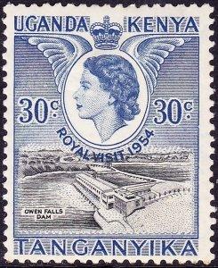 KENYA UGANDA TANGANYIKA QEII 1954 30c Black & Deep Ultramarine SG171 MH