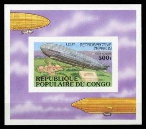1977 Congo Brazzaville 582/B11b Zeppelins 20,00 €