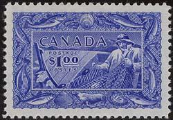 Canada USC #302 Mint LH Cat. $70.00 - VF 1951 $1 Fishing