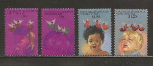 Cocos Islands Scott catalog # 244-247 Mint NH