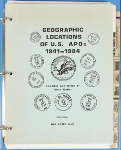 USA : Geographic locations of US Army POs 1941-84 compiled by J Shaffer.