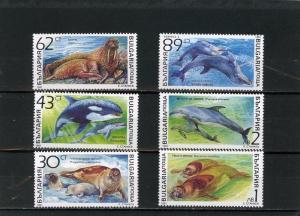 BULGARIA 1991 Sc#3665-3670 MARINE MAMMALS SET OF 6 STAMPS MNH