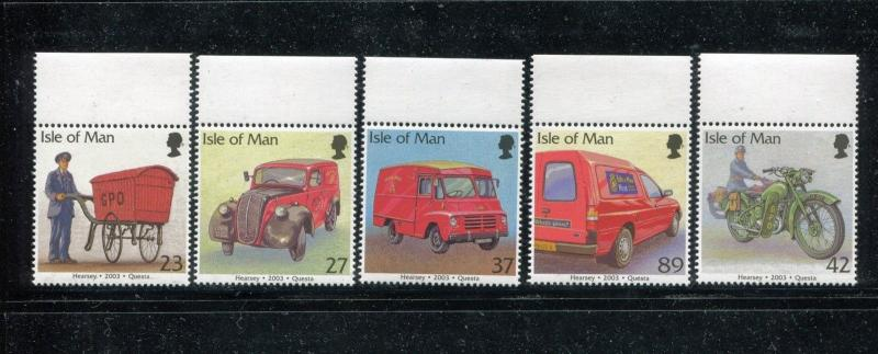 Isle of Man 976-980 MNH 2003 Post Office Vehicles. x16921