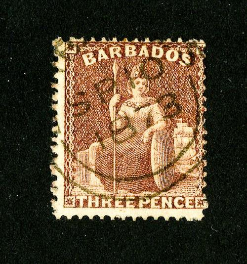 Barbados Stamps # 38 Fresh Used Scott Value $140.00