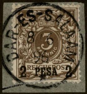Germany 1896 East Africa Mi1I DAR-ES-SALAAM Deutsch Ostafrika DOA 78751