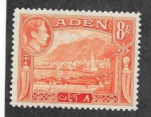 Aden #23 8a orange George VI issue (MH)  CV $2.25