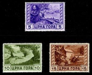 Montenegro - Italian Occupation - Scott #N33 to 35 MLH