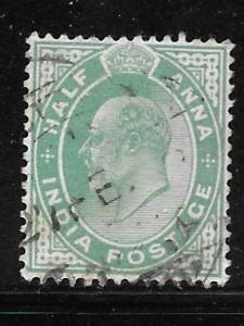 India 61: 1/2a Edward VII, used, F