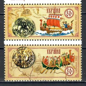 Ukraine 2003 Trade Routes  (MNH)  - Ships
