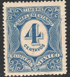 MEXICO J3, 4cents Postage Due. MINT, LIGHT CREASE. NEVER HINGED. F-VF.