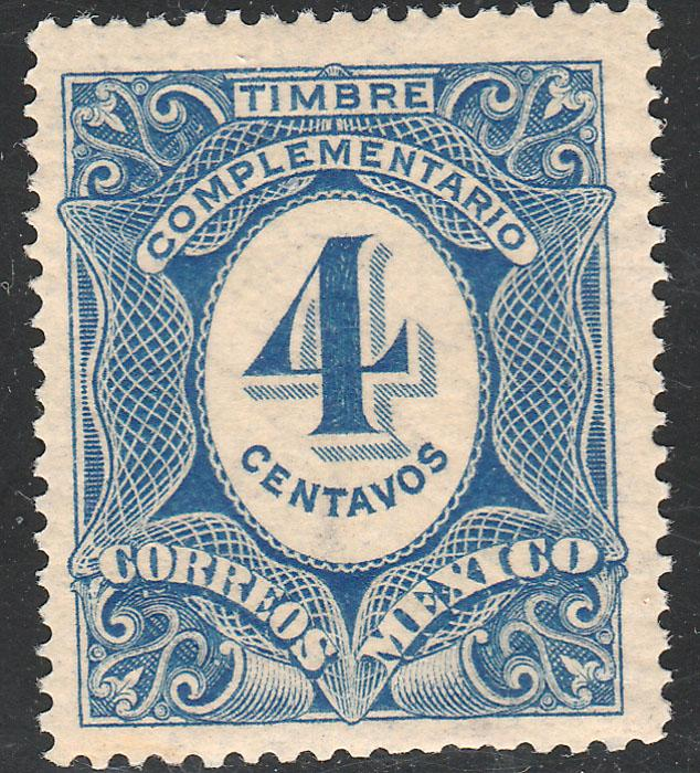 MEXICO J3, 4¢ Postage Due. MINT, NEVER HINGED. F-VF.
