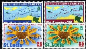 St Lucia #249-52  MNH